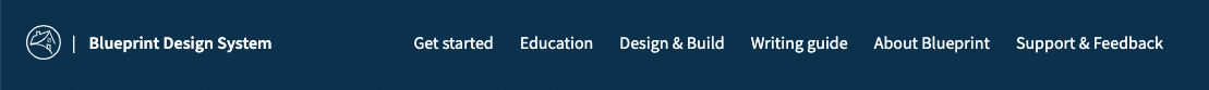 screenshot of website navgation